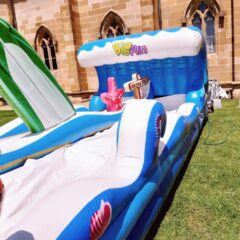 Hire water slide dual lane Sydney big fun Australia