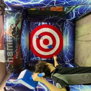 throw fun inflatable game big fun bigfun thor hammer sydney hire rent